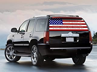 CVS Rear Window Decal for Truck American Flag Pledge Allegiance Back Sticker Graphics Perforated 65