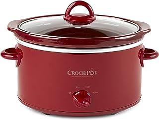 Crock-Pot, Red SCV401-TR 4-Quart Manual Slow Cooker