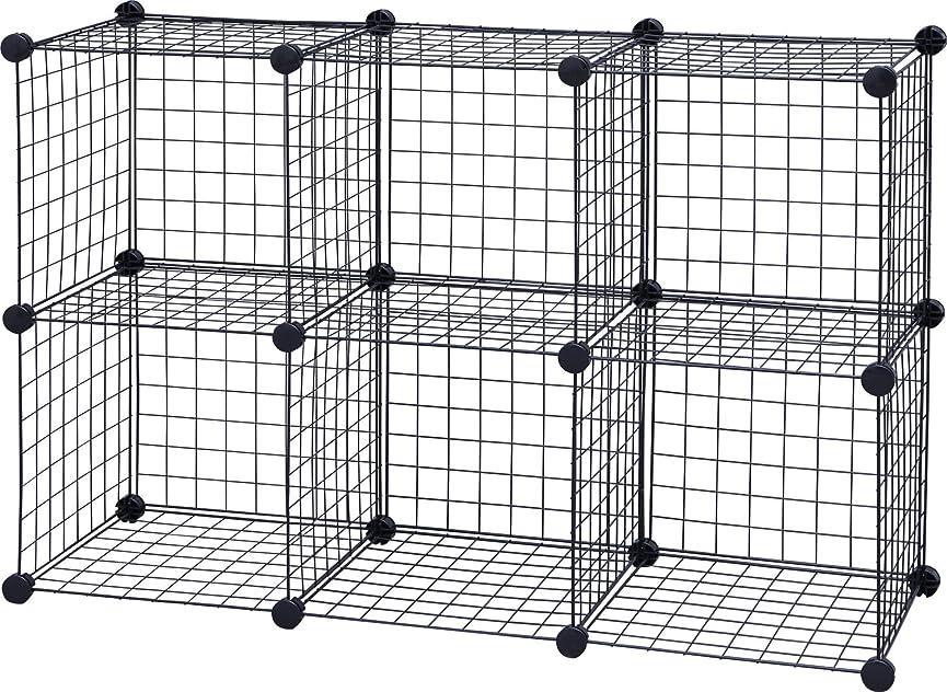 アレキサンダーグラハムベル内側信じるアイリスオーヤマ ワイヤー キューブ シェルフ パネル23枚 幅35.5×奥行35.5×高さ35.5cm