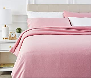 comprar comparacion AmazonBasics - Juego de ropa de cama con funda de edredón, de microfibra, 200 x 200 cm, Rojizo (Sandy Red)