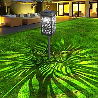 Yuyotrre Solar Path Lights Outdoor, LED Garden Pathway Lights Solar Powered, Decorative Landscape Lighting Security Light Auto On/Off Dusk to Dawn for Lawn, Patio, Yard, Walkway1 Pack (一包)