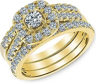Beverly Hills Jewelers 1.00 Carat Total Weight IGI Certified Diamond Engagement Ring in 14 Karat Yellow Gold SIZABLE