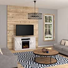 Suporte de TV para lareira elétrico Comfort Smart Killian com aquecedor, televisores de até 140 cm, Ashland Pine Sargent Oak