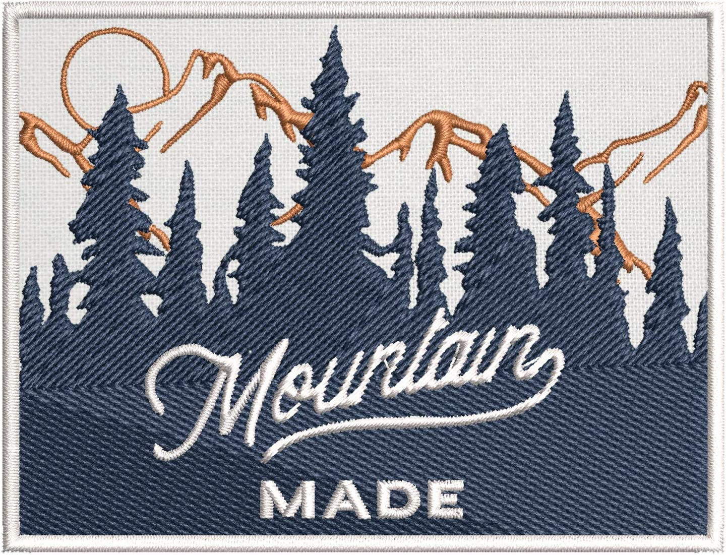 Mountain Spring new work Made Forest Scene Embroidered Iron-on Popular product Premium DIY Patch