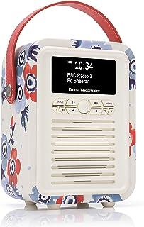 VQ Retro Mini DAB & DAB+ Digital Radio with FM & AM, Bluetooth & Alarm Clock – Emma Bridgewater Anemone
