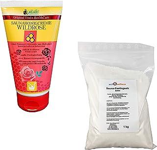 Crème au miel pour sauna Wildrose 150g + 1,0 kg Sel peeling