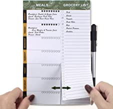 SynLiZy Weekly Meal Planners Meal Planning Pad Magnetic Menu Planner for Refrigerator Door with Perforated Tear-Off Grocery Shopping Lists 6