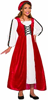 Forum Novelties Renaissance Faire Girl Child's Costume, Red, Small