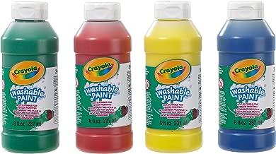 CRAYOLA 3927 - Botellas de Pintura Lavable (4 Unidades, 237 ml)