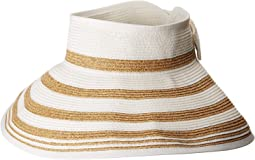 San Diego Hat Company - UBV042 Roll Up Visor with Stripe Pattern and Bow Closure