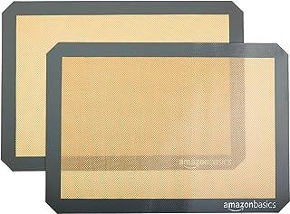 AmazonBasics Silicone, Non-Stick, Food Safe Baking Mat- Pack of 2