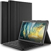 IVSO Funda con Teclado Español Ñ para Huawei MediaPad M5 Lite 10, Slim Stand Funda con Removible Wireless Teclado con Ñ, Negro