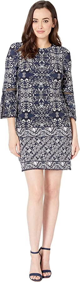 2da8642076e Vince camuto printed velvet halter high low midi dress