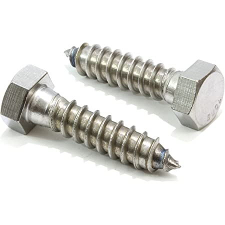 Set of 2 Hex Head AR Grip Bolt Screws 1//4X28X1 Stainless and 2 Lock Washers