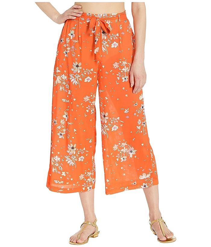 Maaji Mandarin Floweret Crop Pants Cover-Up (Mandarin Orange Floral) Women