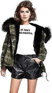S.ROMZA Women Thick Faux Fur Parka Hooded Coat Winter Jacket Detachable Fur Trim