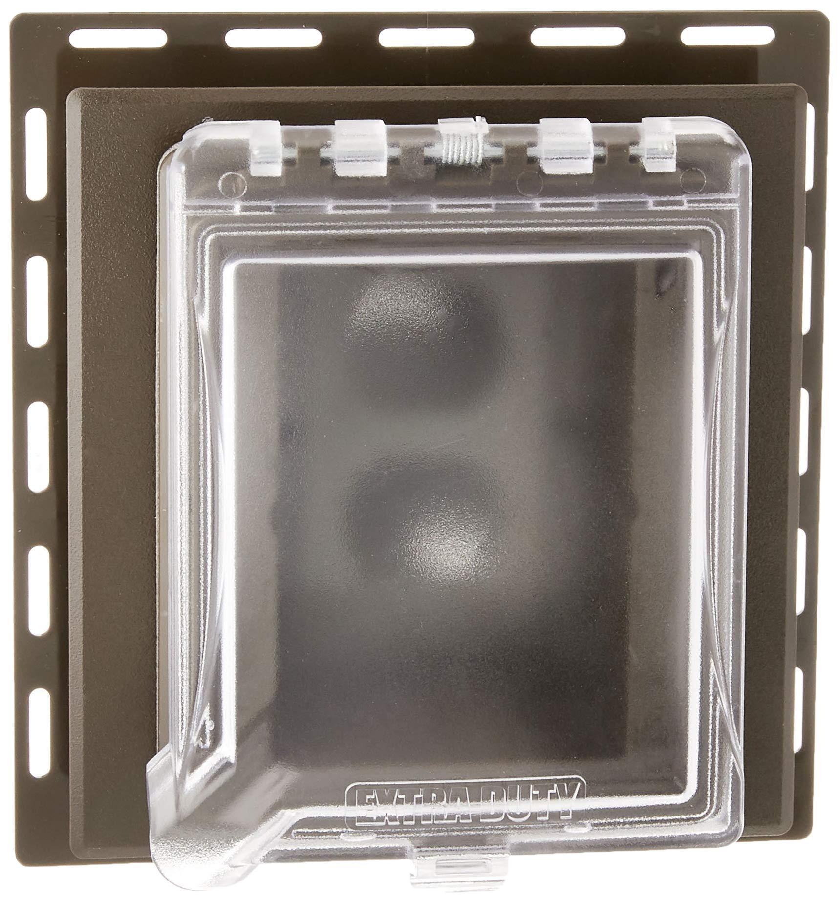 TayMac MR420CZ 1-Gang,6 合 1 防风雨罩,水平/垂直,无金属,青铜