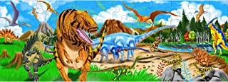 Melissa & Doug Land of Dinosaurs Floor Puzzle (Easy-Clean Surface, Promotes Hand-Eye Coordination, 48 Pieces, 4 Feet Long)