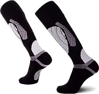 Pure Athlete Elite Wool Race Ski Socks - Warm Comfortable Snowboard/Skiing Socks