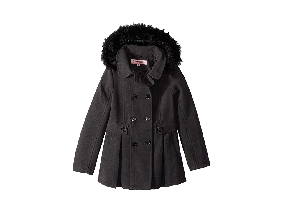 Urban Republic Kids Catherine Double Breasted Wool Coat (Little Kids/Big Kids) (Charcoal) Girl