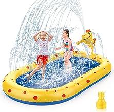 Water Toys Paddling Pool for Kids Sprinkler Outdoor, Wading Pool Ball Game Pool, Splash Pad Sprinkler Infant Swimming Pool...