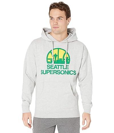 Mitchell & Ness Fleece Pullover Hoodie Supersonics (Grey Heather) Men