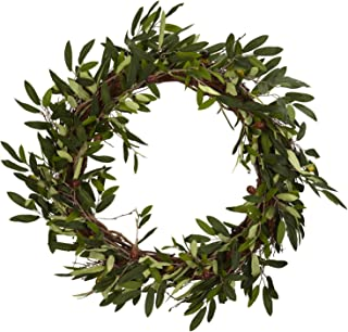 Nearly Natural 4773 20in. Olive Wreath