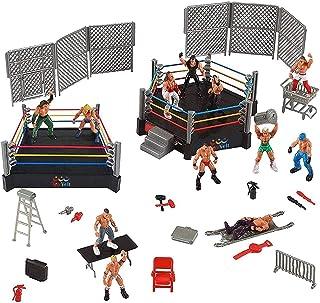 Juego de 32 piezas de lucha para niños WWE Wrestler Warriors juguetes con anillo y accesorios realistas divertidos figuras de acción de lucha en miniatura que incluye 2 anillas. Idea