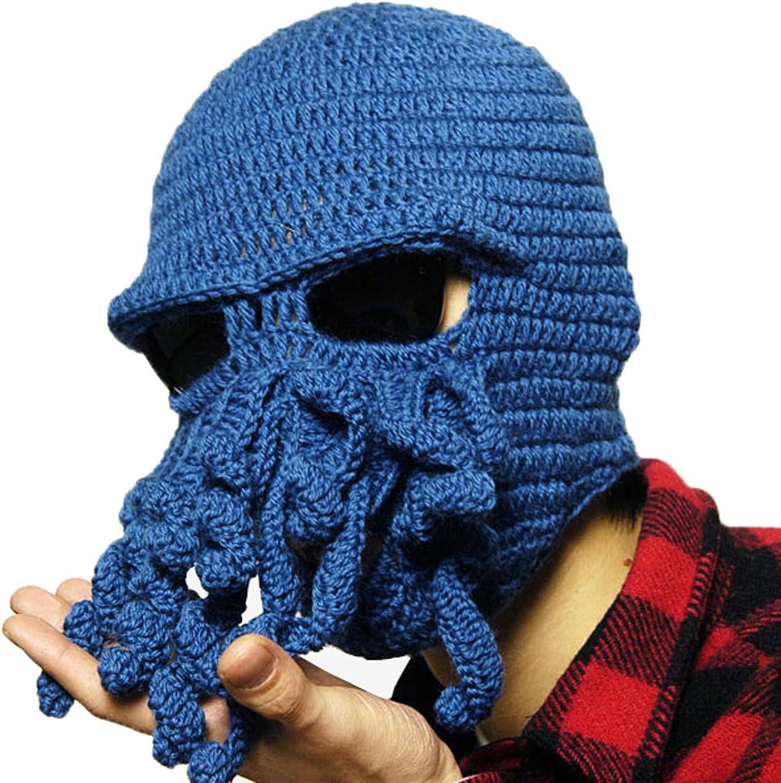 Vent Masque drôle Tentacule Poulpe Cthulhu Knited Beanie Chapeau Bonnet Ski Hiver