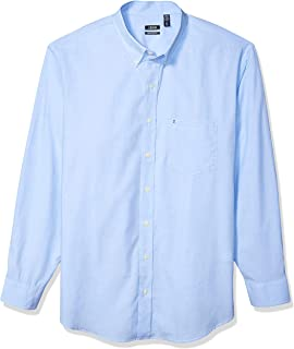 Men's Big and Tall Button Down Long Sleeve Stretch...
