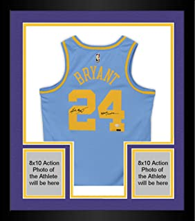 Framed Kobe Bryant Los Angeles Lakers Autographed Minneapolis Lakers Blue Jersey with