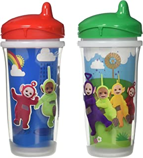 Playtex Sipsters Stage 3 Teletubbies Spill-Proof, Leak-Proof, Break-Proof Insulated Toddler Spout Sippy Cup - 9 Ounce - 2 ...