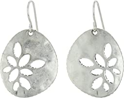 The Sak - Pierced Metal Drop Earrings