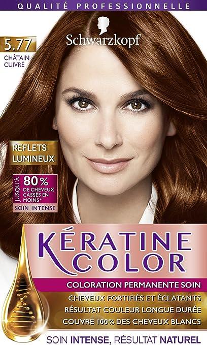 Schwarzkopf Kératine Color - Coloración permanente, color castaño cobrizo 5.77