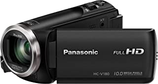 Panasonic Full HD Camcorder Video Camera, Black (HC-V180GN-K)