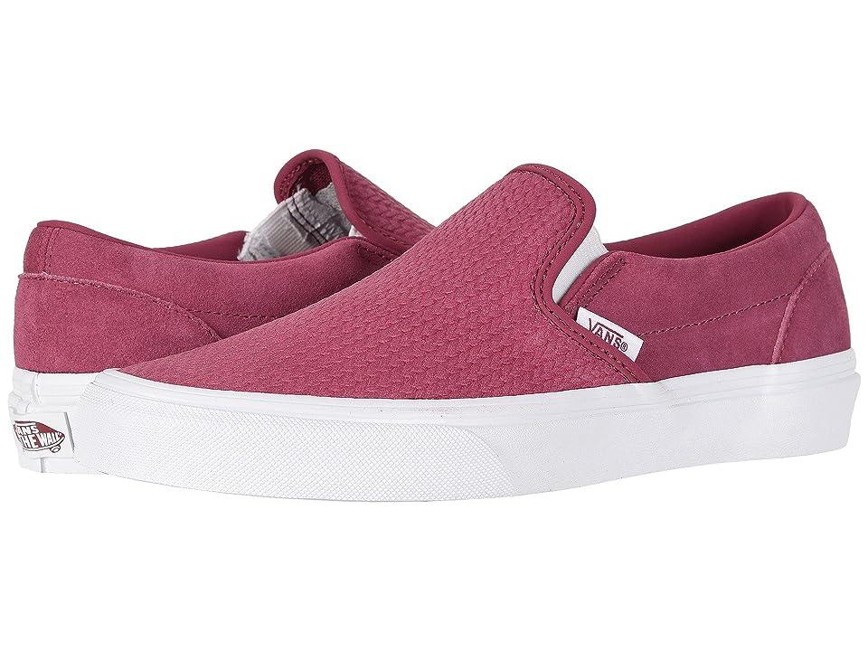 Vans Classic Slip-Ontm ((Suede) Dry Rose/Emboss) Skate Shoes