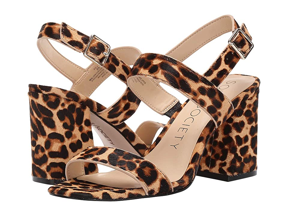 SOLE / SOCIETY Jessibel (Brown Multi Classic Leopard) High Heels