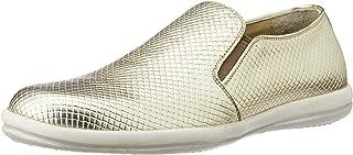 CG Shoe Men's Gold Leather Sneakers - 9 UK (CG-TK 33)