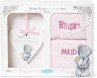 Me To You Tatty Teddy 'Will You Be My Bridesmaid' Plaque and Bed Socks Gift Set, Boxed