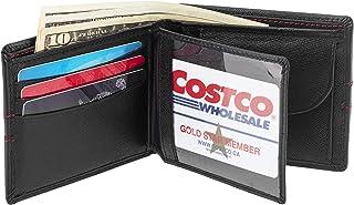 ARTIZANNI RFID Bifold Wallets for Men- Leather Minimalist Double Badge ID Travel Organizer Wallet SD 040 (Black)