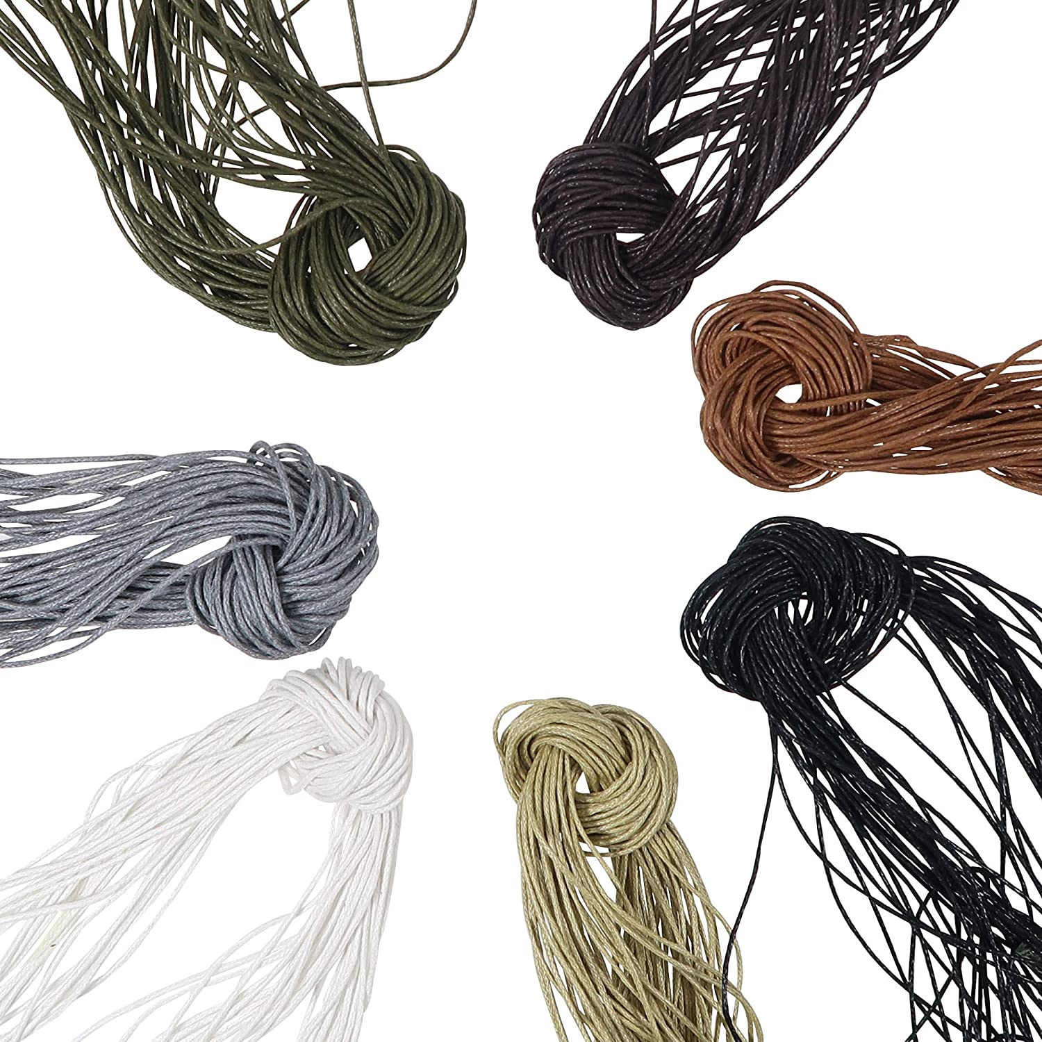 TOAOB 1mm 115 Yards All items in the store 7 Colors C Waxed Cord Cotton Polyester Ranking TOP6