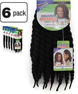 6 Pack of Janet Collection Havana Medium Mambo Twist Braid 12