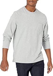 Amazon Essentials Men's Regular-fit Long-Sleeve T-Shirt with Pocket