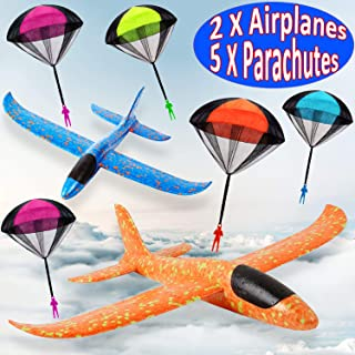 7 Pack Toy Airplane Glider for Kids, 2P 13.5