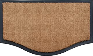 "A1 Home Collections A1HCRB5827 Rubber & Coir Heavy Duty Doormat, 24"" X 39"", Plain Coir Black Border"