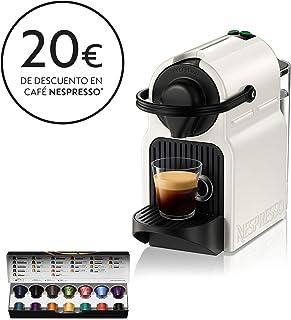 Krups Nespresso Inissia XN1001 - Cafetera monodosis de cápsulas Nespresso, 19 bares, apagado automático, color blanco