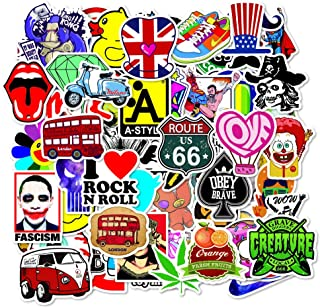 5 Series Stickers 100 pcs/Pack Stickers Variety Vinyl Car Sticker Motorcycle Bicycle Luggage Decal Graffiti Patches Skateboard Stickers for Laptop Stickers for Kid and Adult (Series D)