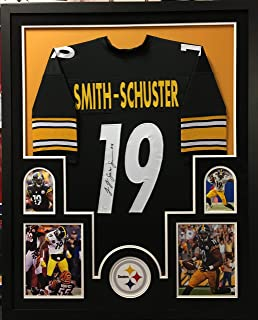 01e77e4be41 JuJu Smith Schuster Pittsburgh Steelers Autograph Signed Custom Framed  Jersey Black 4 Picture Suede Matted JSA