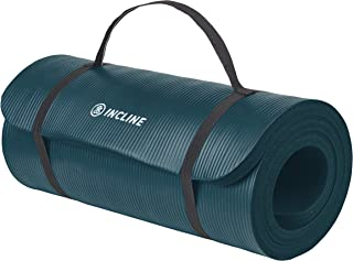 "Incline Fit Exercise Mat Ananda 1"" Extra Thick Exercise Mat with Strap - Non Slip Workout Mat for Yoga, Pilates, Stretching, Meditation, Floor & Fitness Exercises"