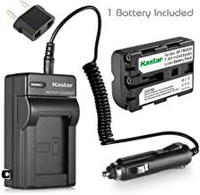 Kastar NP-FM500H Battery (1-Pack) and Charger Kit for Sony DSLR-A100 A200 A300 A350 A450 A500 A550 A560 A580 A700 A850 A900 Alpha SLT A57 A58 A65 A65V A77 A77V A77 II A77M2 A99 A99V CLM-V55 Cameras
